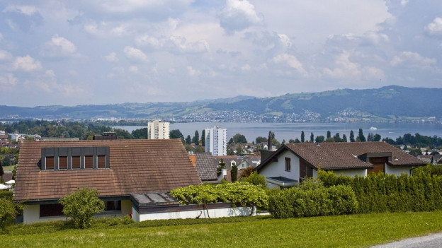 Blick auf die Gemeinde Hünenberg.