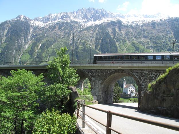 Die Bergstrecke am Gotthard wird künftig weniger befahren.