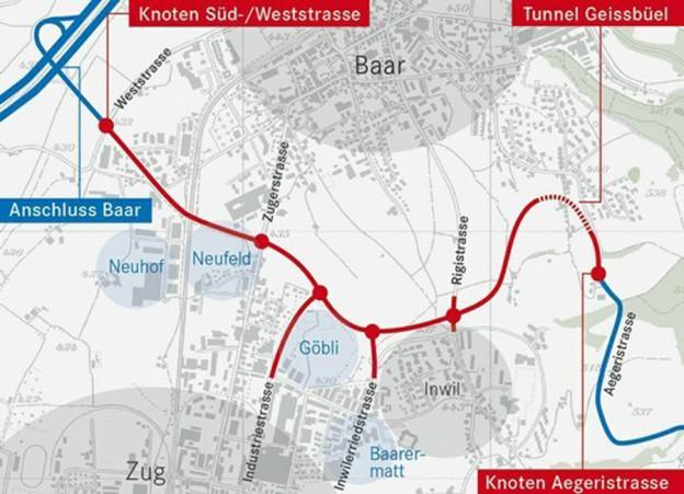 Vier Kilometer lang wird die neue Strasse.