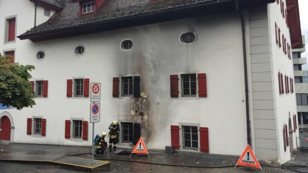 Der Brand beim Forum der Schwyzer Geschichte konnte schnell gelöscht werden.