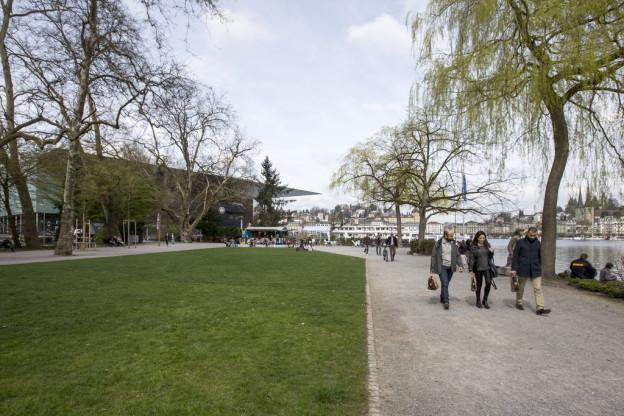 Beim Inseli in Luzern soll die Salle Modulable gebaut werden.