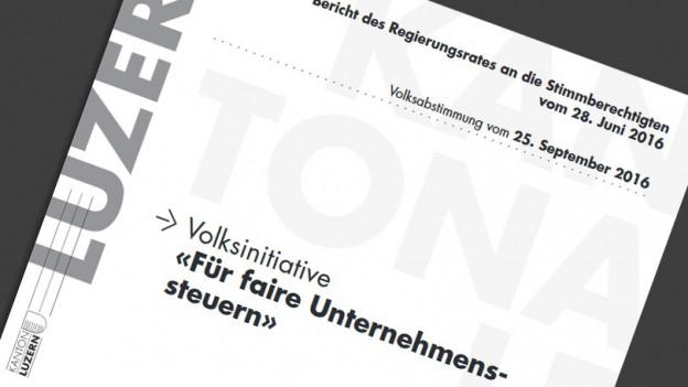 Die Abstimmungsbroschüre des Kantons Luzern.