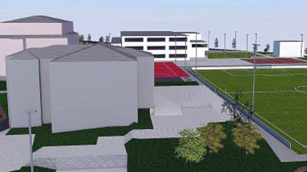 Das geplante Sportzentrum in Oberarth.