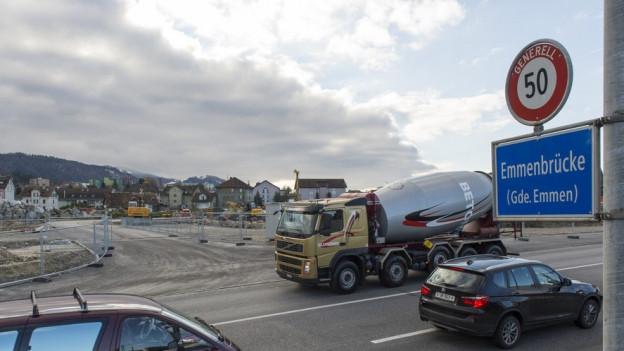 Neues Verkehrsregime am Seetalplatz in Emmen.