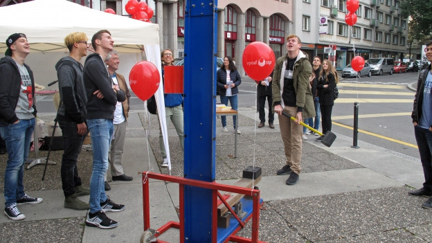 Protestaktion gegen Zwangsferien in Luzern.
