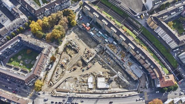 Die Baustelle Himmelrich der ABL in Luzern.