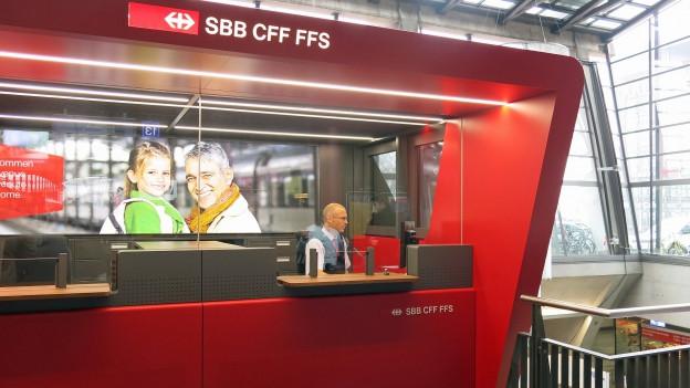 Neue Anlaufstelle für Bahnreisende in Luzern.