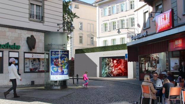 Visualisierung Parkhaus-Ausgang Musegg.