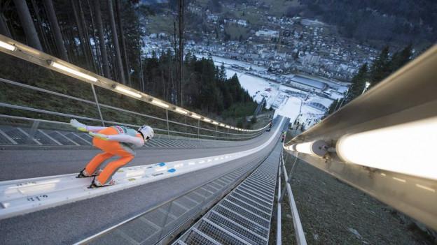 Die Schanze in Engelberg wurde für drei Millionen Franken erneuert.