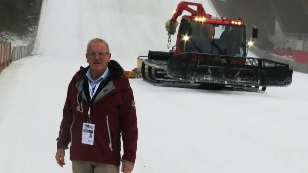 Ernst von Holzen war jahrelang OK-Chef des Skispringens Engelberg.