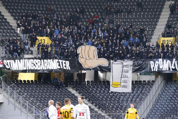 Die Fans des FC Luzern sind nicht zufrieden mit ihrem Club.
