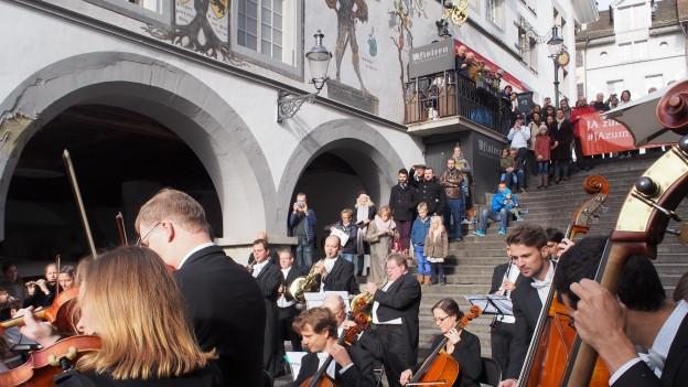 Der Protestauftritt des Luzerner Sinfonieorchesters hat nichts genützt: Der Kantonsrat kürzt die Kulturbeiträge.