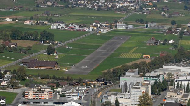Der Flugplatz Kägiswil.
