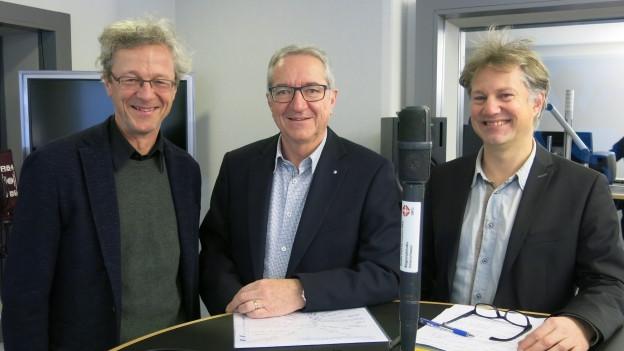 In Verkehrsfragen uneins: Adrian Borgula, Robert Küng, Cyrill Wiget