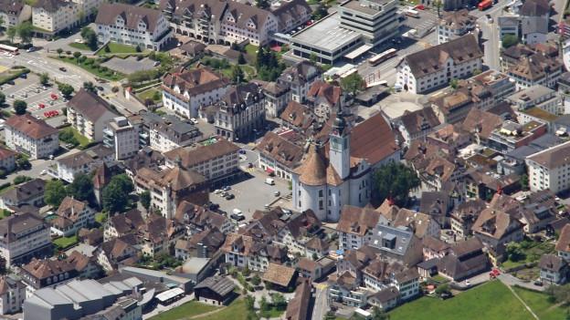 Das Zentrum in Schwyz ist ein Verkehrsknotenpunkt.