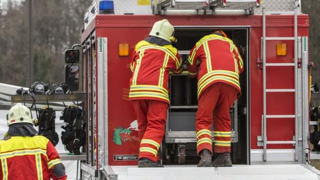 Beim Brand in Neuheim war ein Grossaufgebot der Feuerwehr im Einsatz (Symbolbild