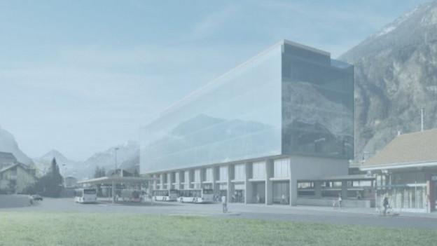 Visualisierung des Kantonsbahnhofs Altdorf