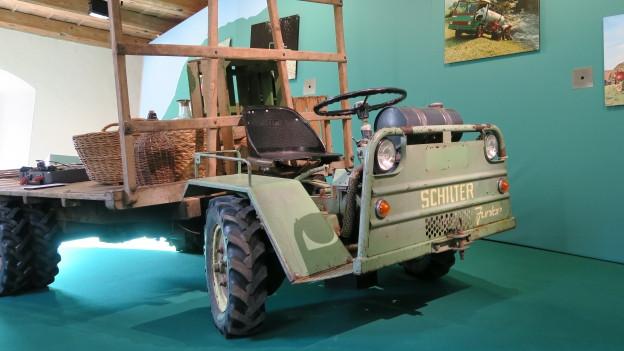 Schilter-Transporter in der Ausstellung.