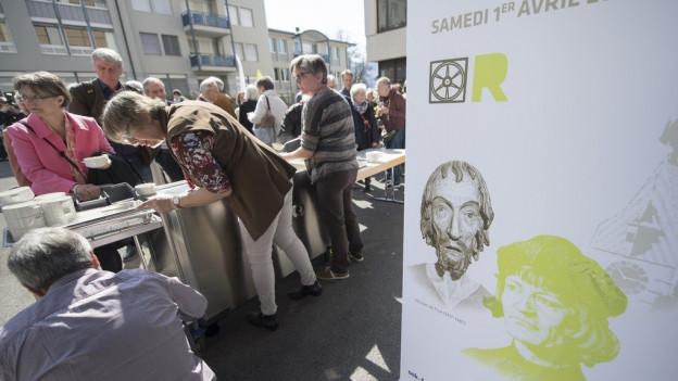 Gäste des ökumenischen Gedenktages in Zug.