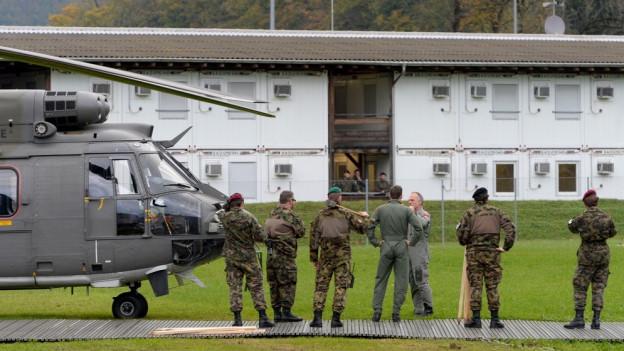 Auf dem Waffenplatz Wil werden Swissint-Kräfte ausgebildet