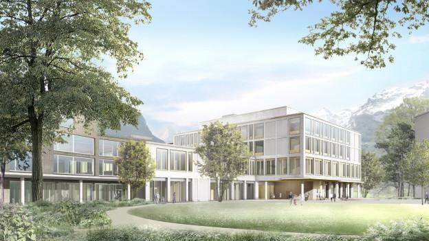 Visualisierung Kantonsspital Uri.