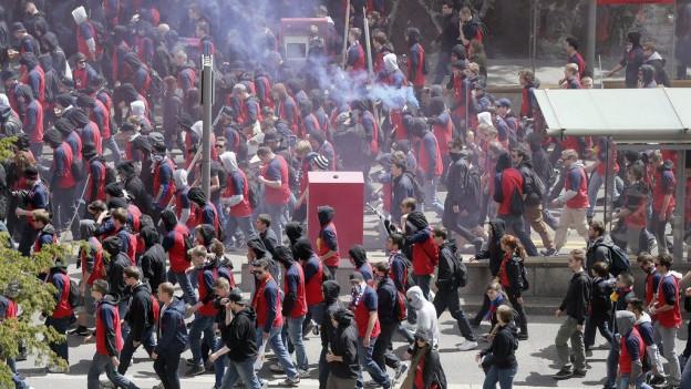 Am Freitag werden viele Basler Fans in Luzern erwartet.