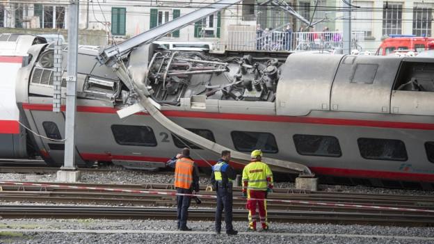 Am 22. März war in Luzern ein italienischer Eurocity entgleist.