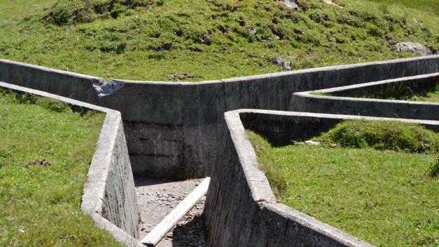 Der Schiessplatz mit Schützengräben soll saniert werden.
