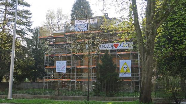 Die besetzte Villa an der Obergrundstrasse in Luzern