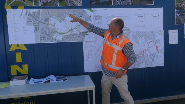 Bis im Herbst 2021 soll die Entlastungsstrasse fertig gebaut sein.