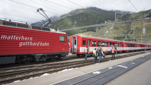 Bahnunfall im Bahnhof Andermatt