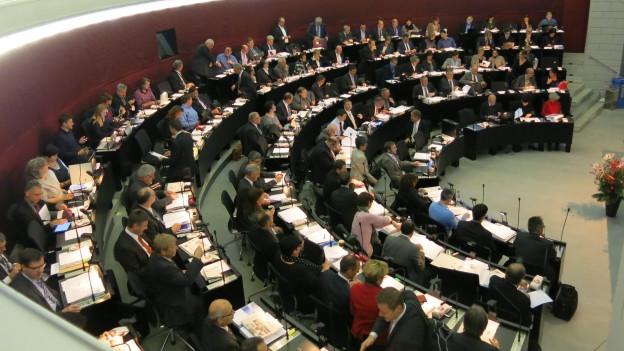Der Luzerner Kantonsrat während der Budgetdebatte