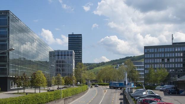 Hochhäuser in Zug