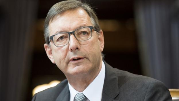 Josef Dittli übernimmt das Amt vom neu gewählten Bundesrat Iganzio Cassis.