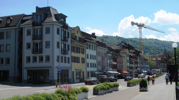 Altstadthäuser in der Stadt Zug