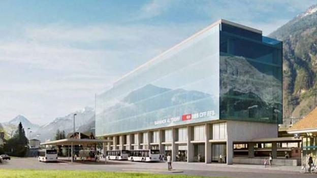 Der künftige neue Bahnhof in Altdorf ist für die Urner Regierung ein möglicher UBS-Standort.