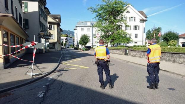 Schüsse in Lachen führen zu einem Grosseinsatz der Polizei