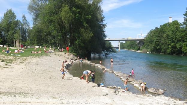 Badeplatz bei der Sommerbar «Nordpol»