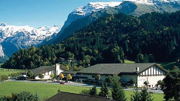Aussenansicht des Sporting Parks in der Gemeinde Engelberg.