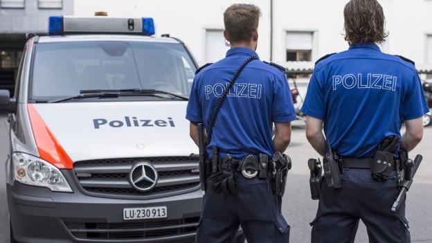 Luzerner Polizisten im Einsatz