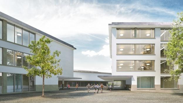 Visualisierung des Schulhauses Staffeln.