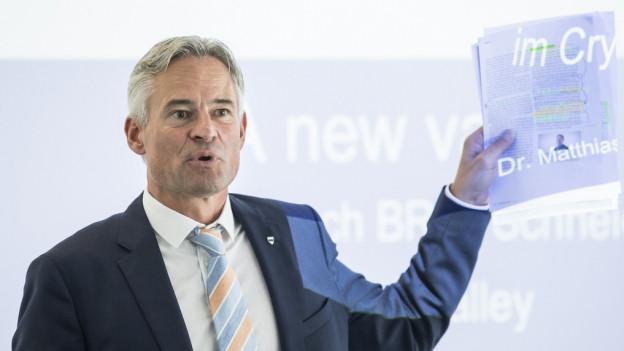 Der Zuger Volkswirtschaftsdirektor Matthias Michel.