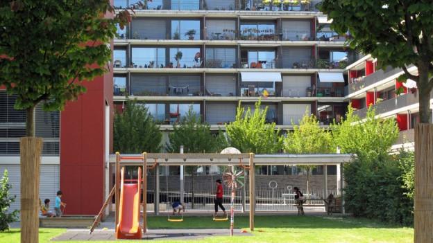 Aussenansicht eines Wohnhauses in der Stadt Luzern.