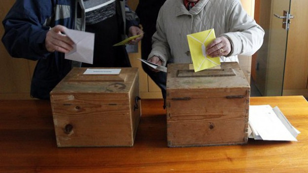 Abstimmungen in der Zentralschweiz.