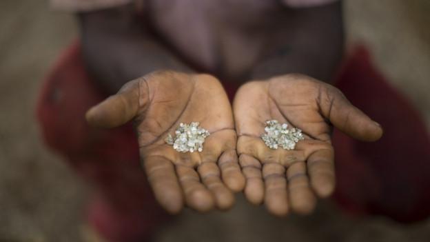 Diamanten in einer Mine in Brasilien.