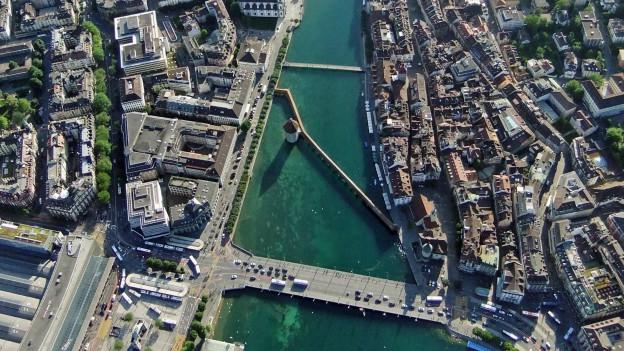 Luftbild der Stadt Luzern