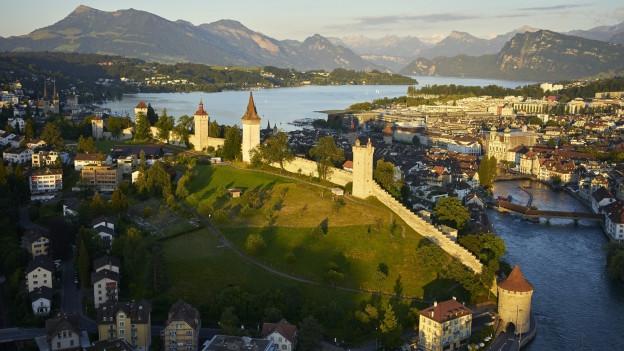 Türmer der Museggmauer in Luzern.