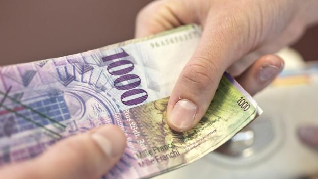 Eine Schweizer Tausendernote.