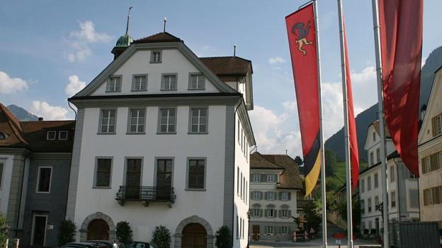 Das Ratshaus in Stans.