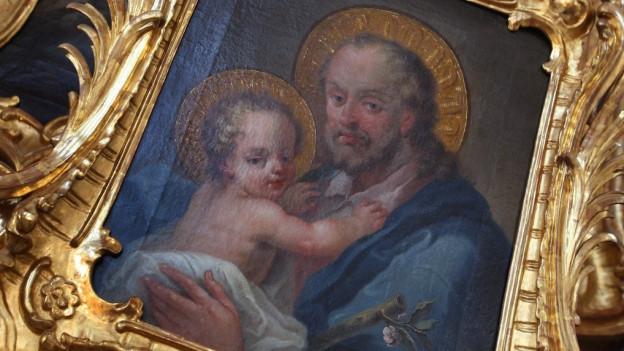 Darstellung des heiligen Josef mit dem Jesuskind